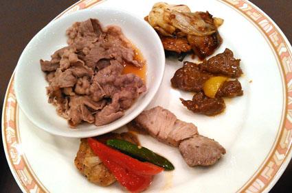 新富良野プリンス 肉料理盛り合わせ