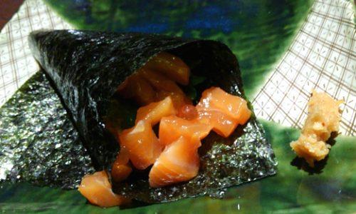 ハルで夕食ビュッフェ 手巻き寿司