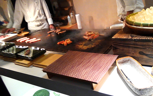 トマム 牛ステーキ&焼きカニ