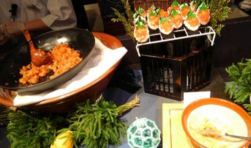 トマムで手巻き寿司食べ放題