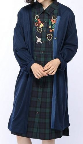 松岡茉優 ロングカーデ