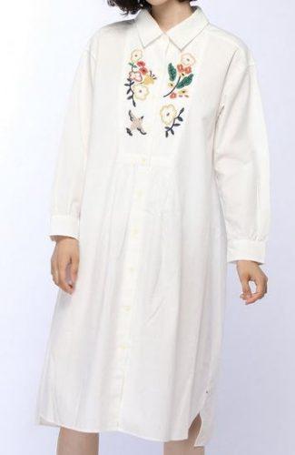 サーヤのシャツワンピ
