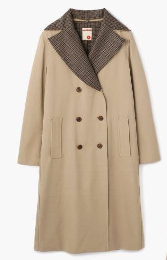 綾瀬はるか 襟チェックのコート
