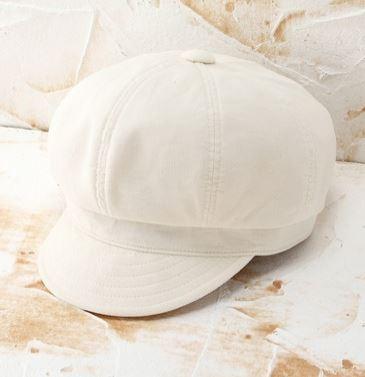 白のキャスケット
