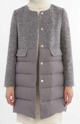 本田翼 グレーのコート