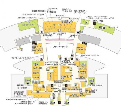 新千歳空港の地図