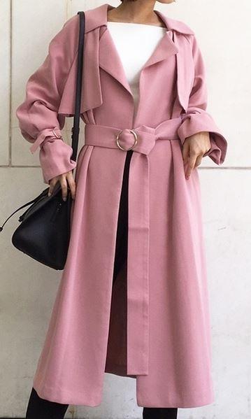 武井咲 ピンクのコート