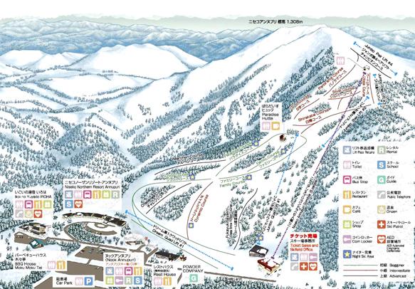 ニセコアンヌプリ国際スキー場 マップ