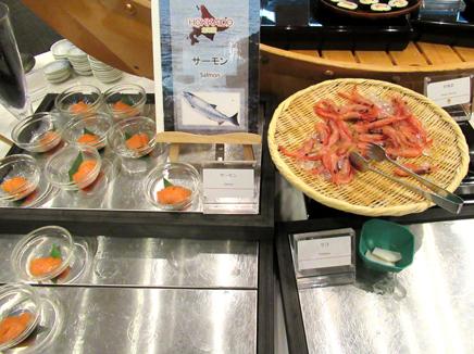 キロロ 夕食バイキング 海鮮