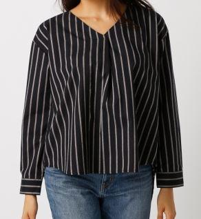深田恭子 ストライプのシャツ