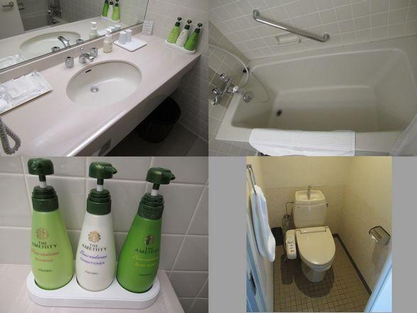 ルスツスキー場のホテル 風呂
