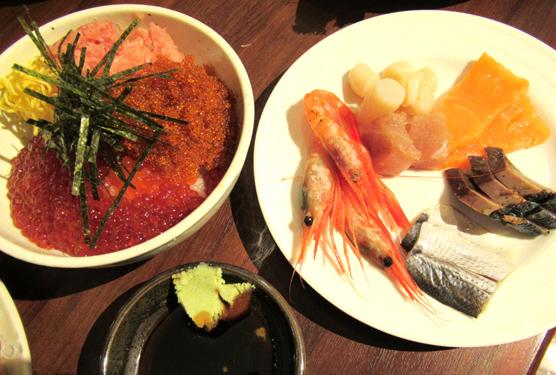 ルスツのバイキング 海鮮丼