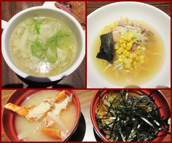 ニセコ ディナービュッフェ 天ぷら 蟹汁