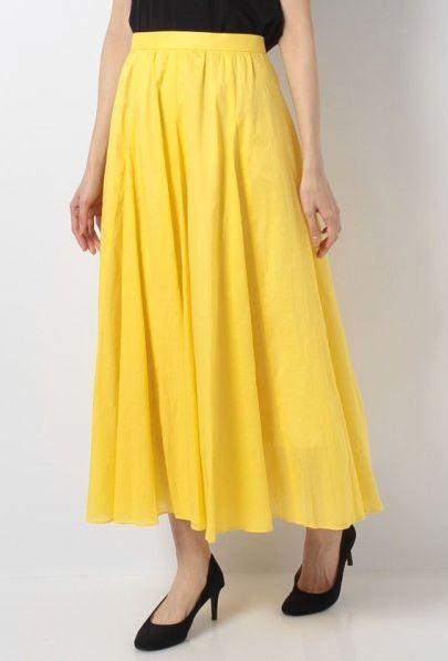 石原さとみ 高嶺の花 黄色のスカート