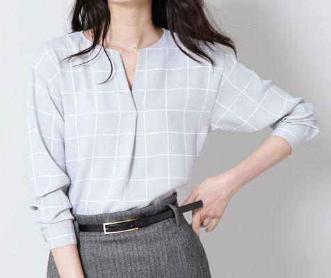 スーツ 新木優子 チェックのブラウス 衣装 鈴木保奈美 ファッション