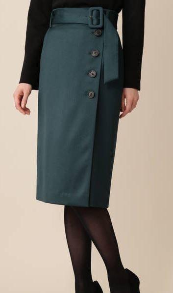 スーツ 中村アンの洋服 ボタン付きスカート