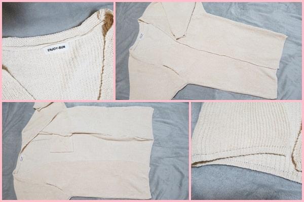 Doresuwe 海外通販 バッグ プチプラ ロングカーディガン ニット パフスリーブ レディース ファッション
