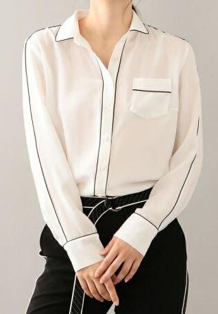 初めて恋をした日に読む話 深田恭子 衣装 はじこい パイピングブラウス 洋服 ファッション ブランド