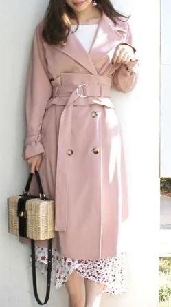 ピンクのトレンチコート 初めて恋をした日に読む話 深キョン 衣装 洋服