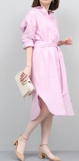 初めて恋をした日に読む話 深キョン 衣装 はじこい ピンクのシャツワンピ 洋服