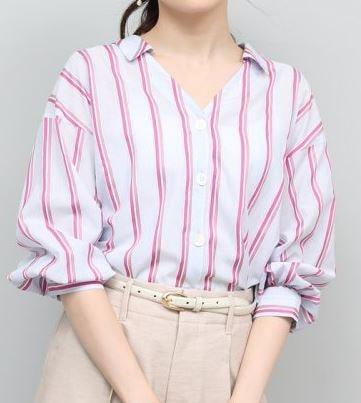 初めて恋をした日に読む話 深田恭子 衣装 はじこい ストライプブラウス 洋服