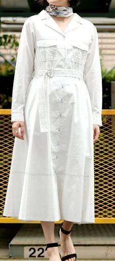 初めて恋をした日に読む話 深キョン 衣装 はじこい 白のシャツワンピ 洋服