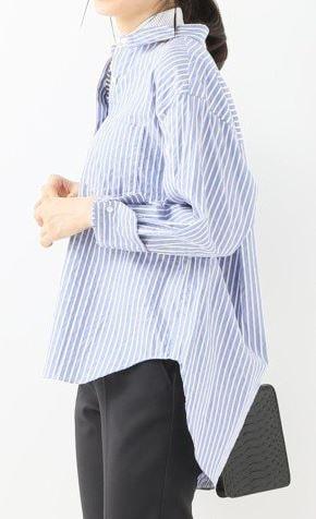白衣の戦士 水川あさみ ドラマ 洋服 ストライプのシャツ