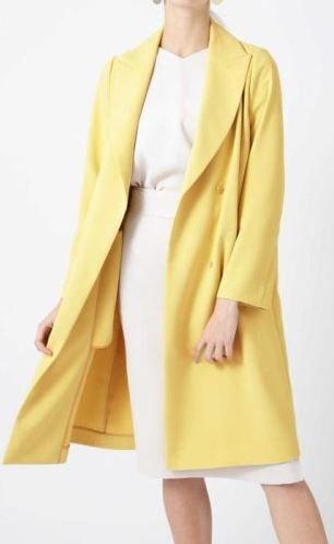 黄色のコート わた定 わたし、定時で帰ります ファッション 洋服 吉高由里子
