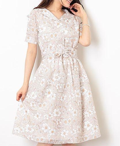 ルパンの娘 深田恭子 ストライプ フラワーワンピース 洋服 衣装