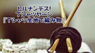 Tシャツヤーン『Tシャツ生地で編み物』ヒルナンデス!材料や作り方を解説