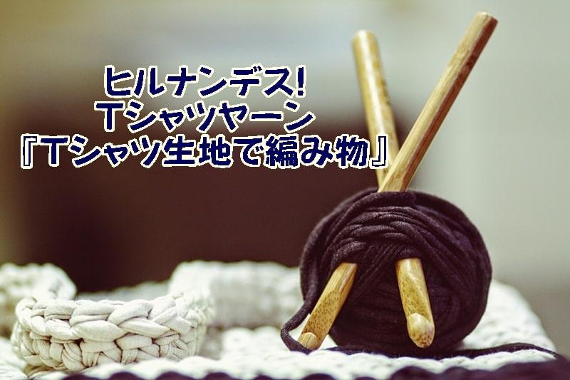 Tシャツヤーン Tシャツ生地で編み物 ヒルナンデス! 材料 作り方