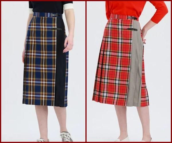 かのきれ チェックのスカート
